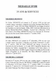MEDAILLE D'OR - Tarbes-Infos