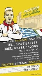 PIZZA TAXI PIZZA TAXI PIZZA TAXI PIZZA TAXI ... - Hotel Alexandros