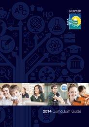 2014 Curriculum Guide - Brighton Secondary School