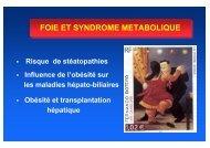 Foie et syndrome métabolique