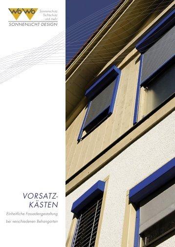 VORSATZ- KÄSTEN - WO&WO
