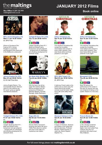 JANUARY 2012 Films Book online - The Maltings