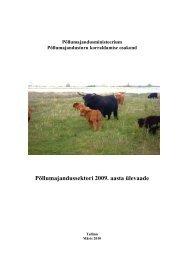 Põllumajandussektori 2009. aasta ülevaade