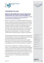 PRESSEMITTEILUNG - Wirtschaftsjunioren München