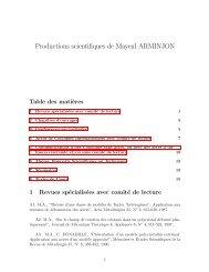Liste complète des productions scientifiques / Listing of all scientific ...