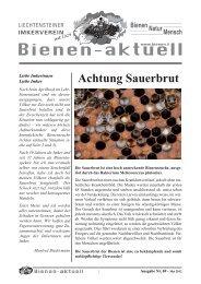 Bienen-aktuell Nr. 69.indd - Liechtensteiner Imkerverein