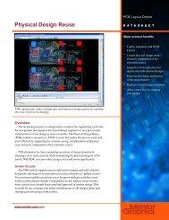 Physical Design Reuse Datasheet - WEDASoft