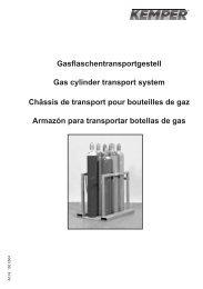 Gasflaschentransportgestell Gas cylinder transport system ... - Kemper