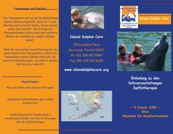 Infofolder zum Infoabend zur Delphingestützten Therapie