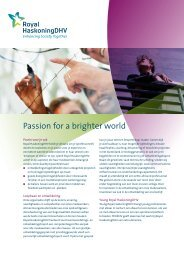 Folder: 'Passion for a brighter world' - Royal Haskoning