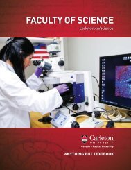 FACULTY OF SCIENCE - Carleton University