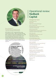 Operational review: Nedbank Capital - Nedbank Group Limited