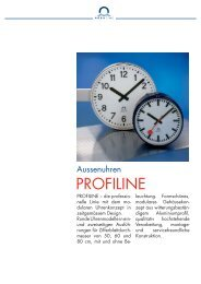 PROFILINE - MOBATIME Swiss Time Systems