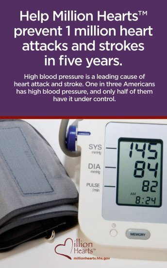HHS Million Hearts Blood Pressure Partner Toolkit Postcard