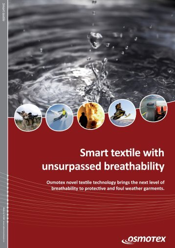 Smart textile with unsurpassed breathability - Osmotex