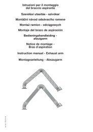 Istruzioni per il montaggio del braccio aspirante Szerelési ... - Kemper