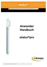 Anwender Handbuch etalux®pro - e-ressource.eu