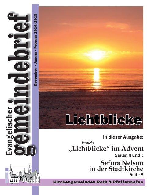 Evang. Kirchengemeinde Roth - Gemeindebrief Dez 2014 bis Feb 2015