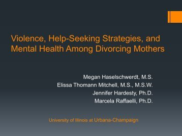 Violence, Protective Strategies, and Mental Health Among Divorcing ...