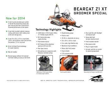 Bearcat Z1 XT GS Spec Release - Arctic Cat