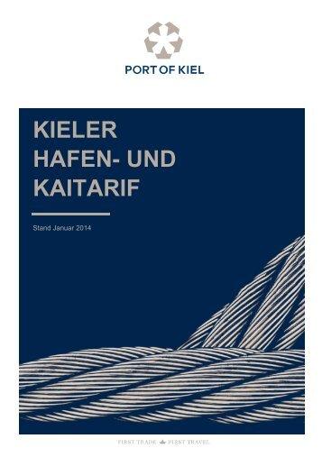 Hafen- und Kaitarif 2014 - Port of Kiel
