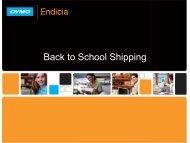 Back to School Shipping - Endicia