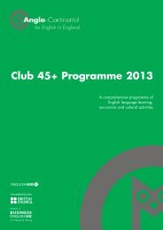 Club 45+ Programme 2013 - Anglo-Continental