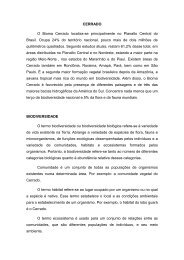 CERRADO O Bioma Cerrado localiza-se principalmente no Planalto ...