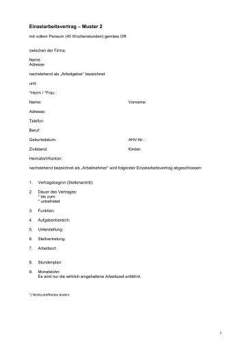 Aushilfsanstellung Rahmenvertrag â Muster 5 Viscom