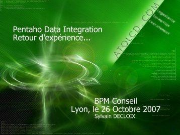Javapolis Presentation - osbi.fr (Open Source Business Intelligence)