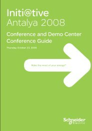 Conferences and Booths proposed - Schneider Electric