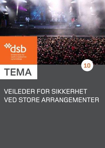 Veileder for sikkerhet Ved store arrangementer - Direktoratet for ...