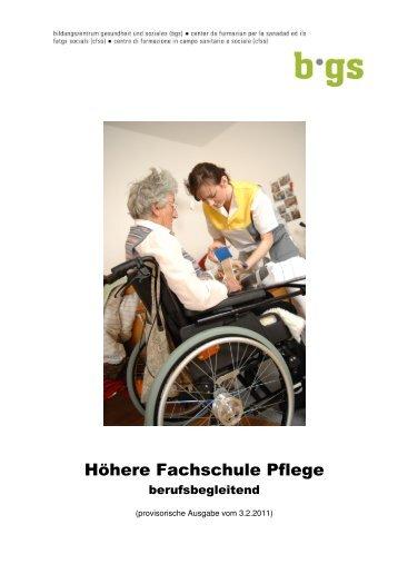 Höhere Fachschule Pflege - BGS-Chur