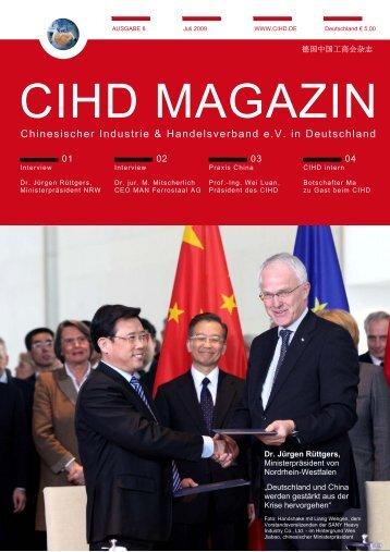 CIHD Magazin 8 07/2009 - Chinesischer Industrie- und ...