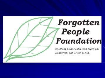Sinh Hoïat cuûa NTT Höông La - Forgotten People Foundation
