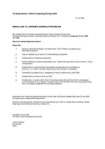 CCE innkalling generalforsamling 2008.pdf - Netfonds