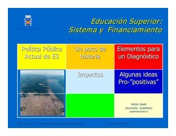 Educación Superior: Sistema y Financiamiento - Universidad del Bío ...