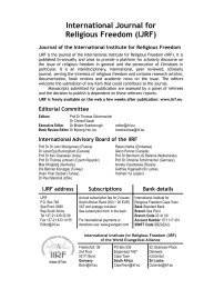 IJRF Vol 2:2 2009 - International Institute for Religious Freedom