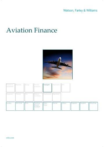 Aviation Finance - Watson, Farley & Williams