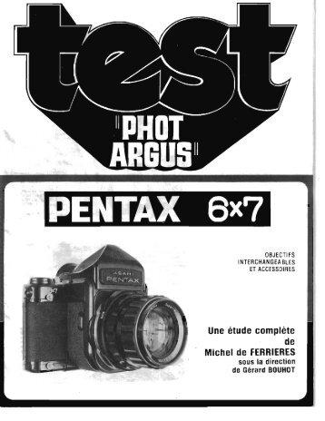 Télécharger une étude sur le Pentax 6x7 - Galerie-photo.com