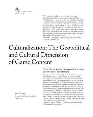 Culturalization: The Geopolitical and Cultural Dimension of ... - Trans