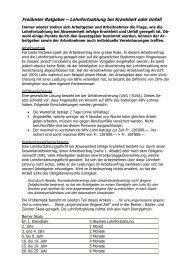Lohnfortzahlung bei Krankheit oder Unfall, 2009.03.06 - argusch ag