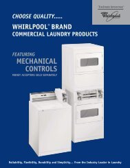 Featuring Mechanical Controls - Whirlpool Commercial