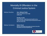 Mentally Ill Offenders in the Criminal Justice System