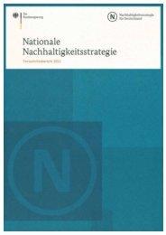 Nationale Nachhaltigkeitsstrategie - CiF Kompetenz-Zentrum für ...