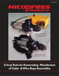 Crimp Tools for Automating Manufacture of Cable ... - Fabco-Air, Inc.