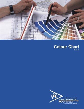 Tableau des couleurs - Agway Metals Inc