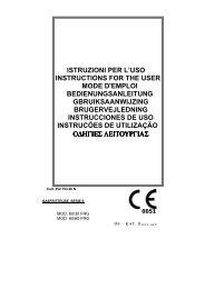 0051 istruzioni per l'uso instructions for the user mode d'emploi ...