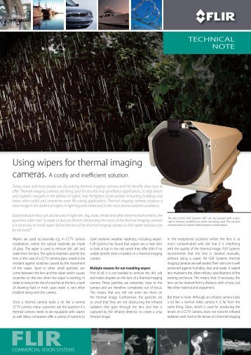 Using wipers for thermal imaging
