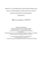 M e s o A m e r i N E T - BioNET